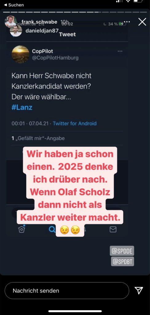 Schwabe als Bundeskanzler-Kandidat? Nach seinem Auftritt bei Markus Lanz brachte ein Zuschauer das anschließend als Vorschlag vor.