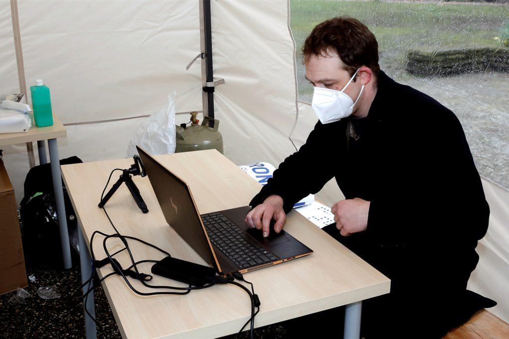 Sebastian Grüter wertete die Tests aus und übermittelte die Ergebnisse.