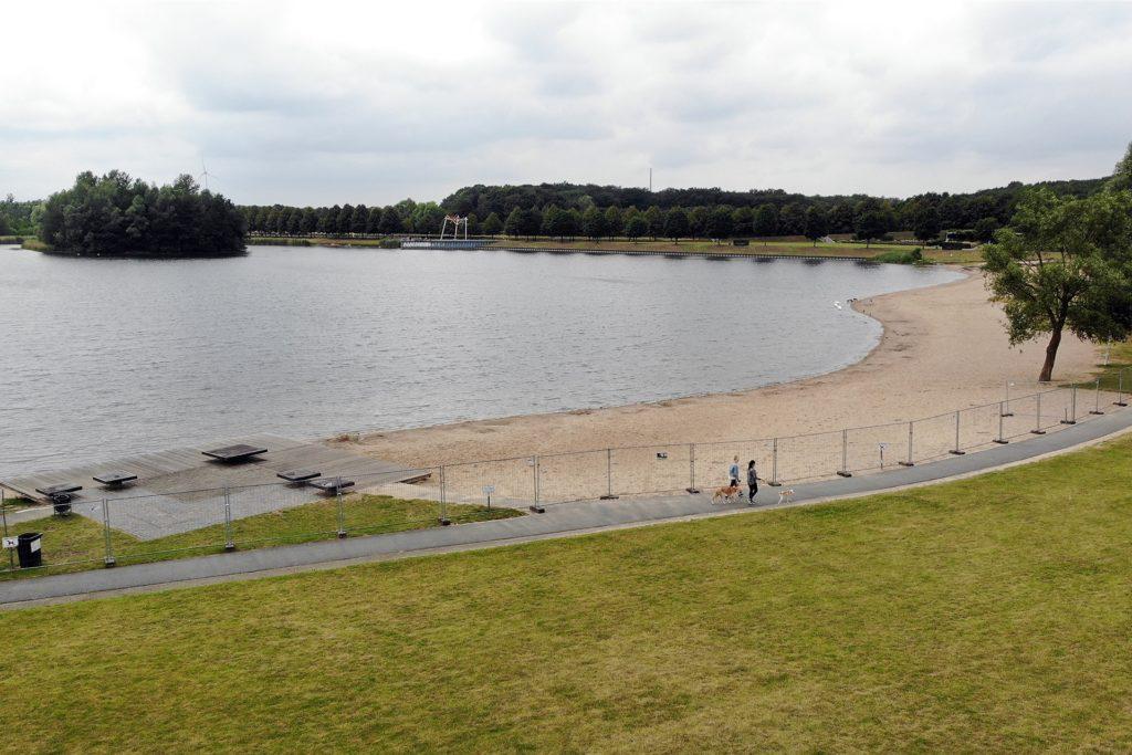 Damit hätte zur Eröffnung der LaGaLü 1996 wohl auch niemand gerechnet. Während der Corona-Pandemie wurde der Horstmarer See mit einem Zaun abgesperrt.