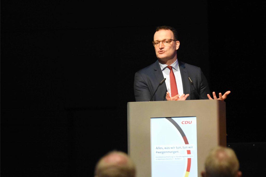 Jens Spahn kündigte in seiner Rede für 2022 kündigte Spahn einen digitalen Impfpass an.
