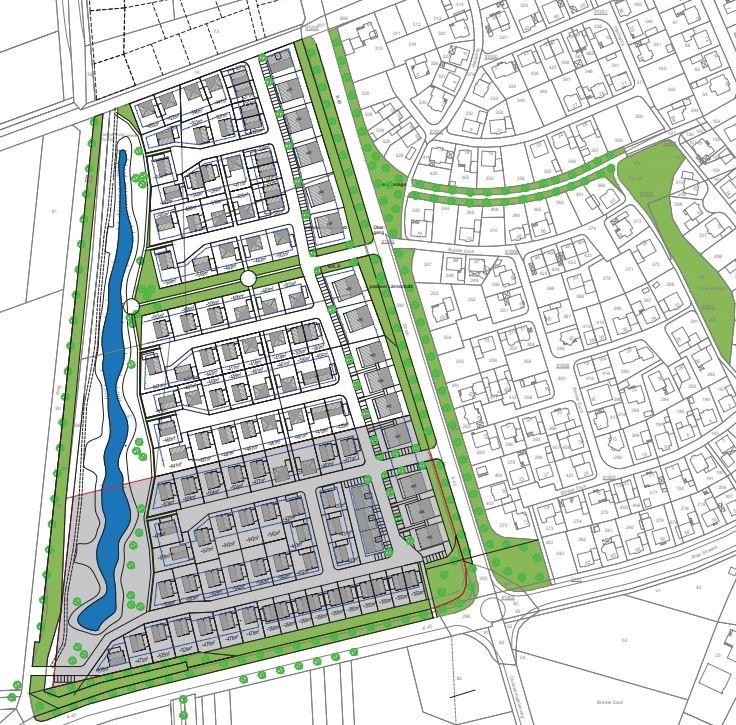 Knapp 200 Wohneinheiten sollen im Baugebiet Pfingsfeld entstehen. Die Baustruktur soll dabei bunt gemischt sein.