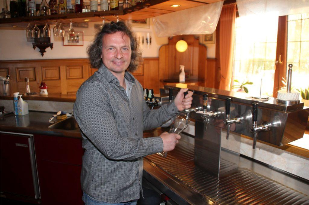 Björn Allegro kann zurzeit auch keine Getränke ausschenken.
