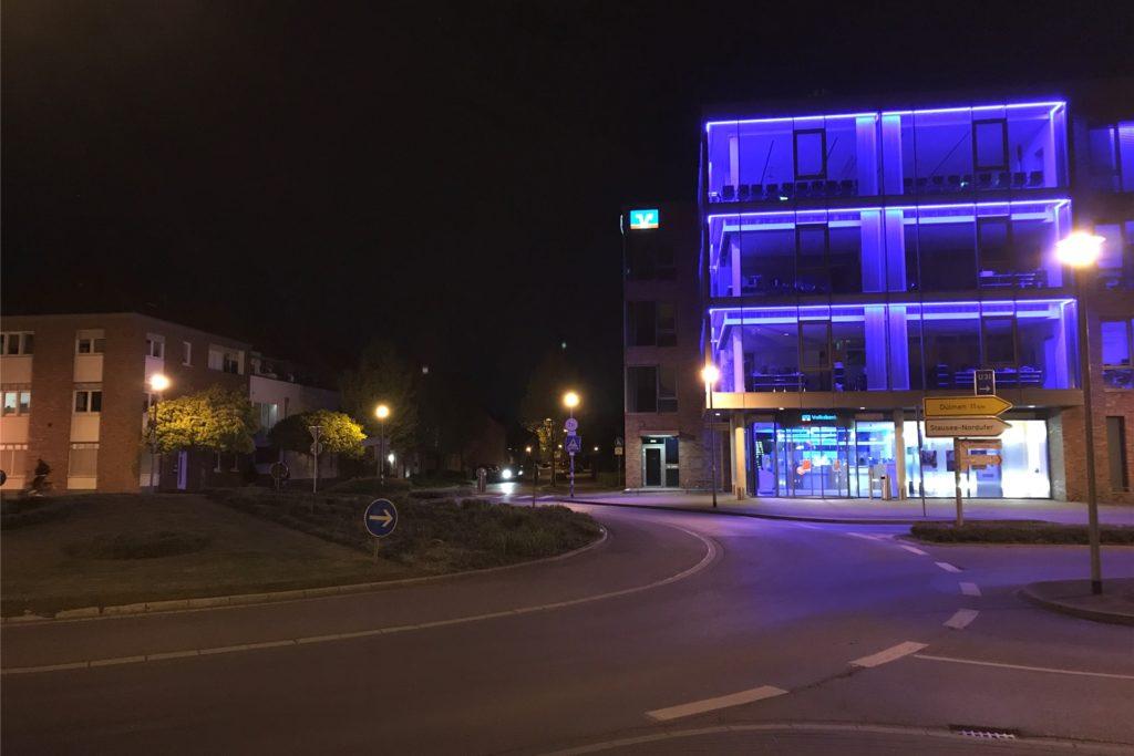 Leere auch am Kreisverkehr am Schüttenwall.
