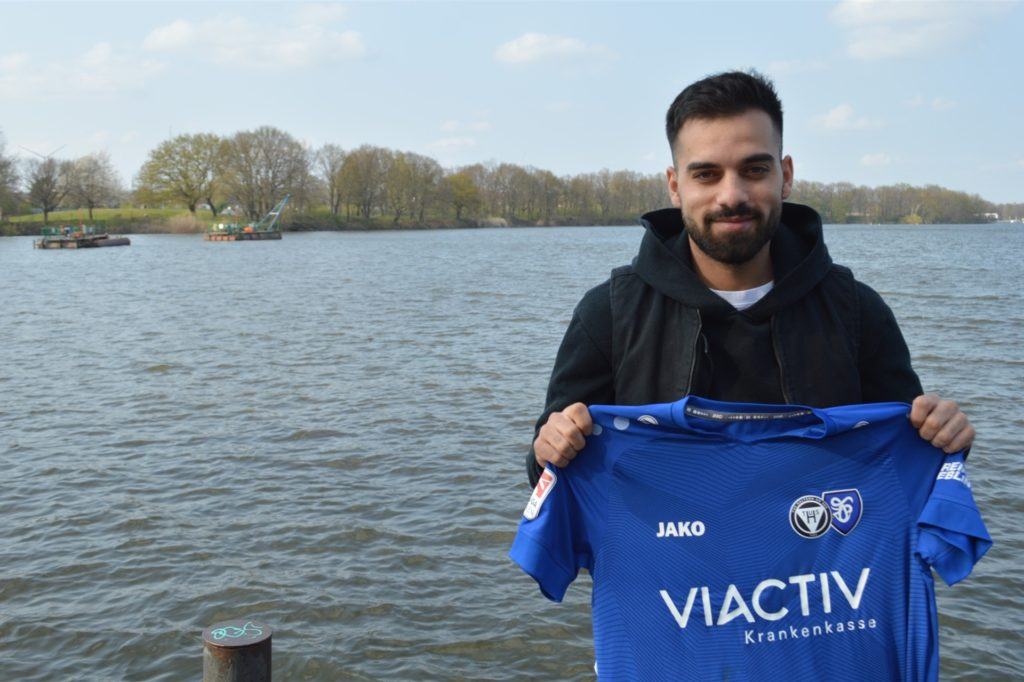 Ali Ibraim soll ab der kommenden Saison mit seinem Tempo und seinem Abschluss auf den Außen des TuS Haltern am See für Furore sorgen.