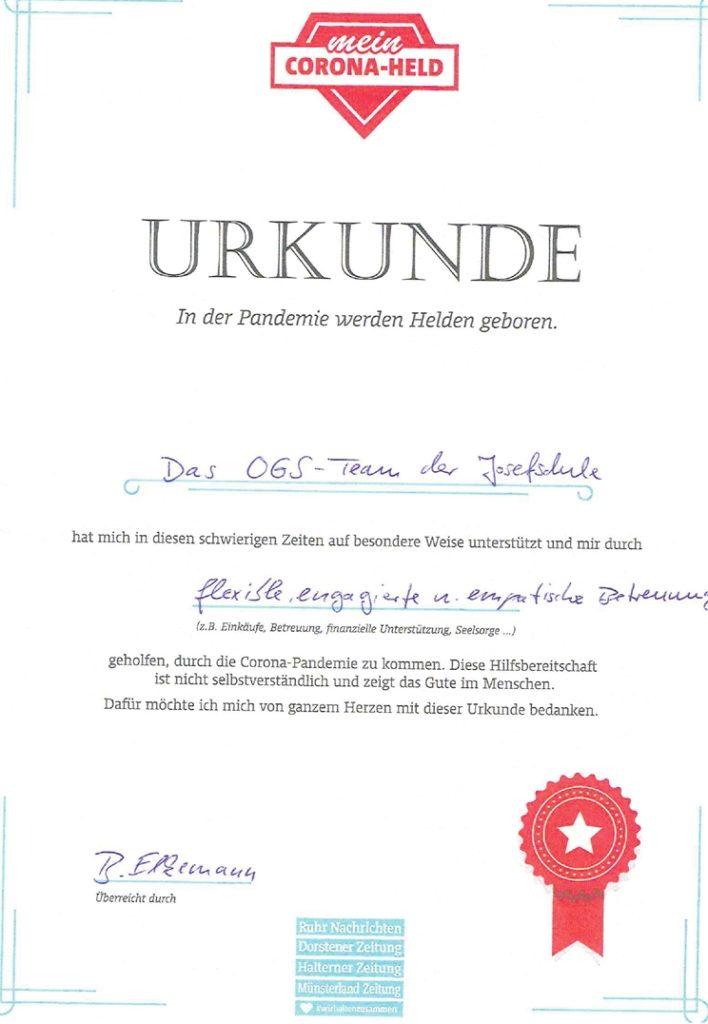 Flexibel, engagiert und empathisch nennt Bernd Elkemann die Betreuung, die Kindern OGS Josefschule in Ahaus zuteil wird.