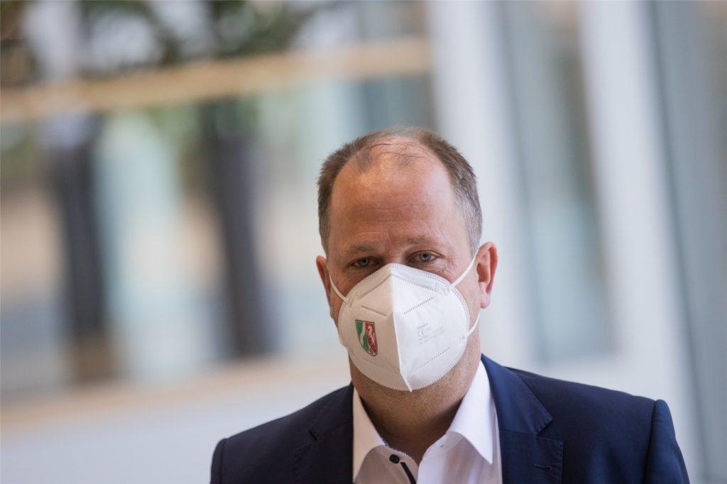 Joachim Stamp (FDP), Minister für Kinder, Familie, Flüchtlinge und Integration steht im engen Austausch mit dem Schulministerium wegen der Lolli-Tests.