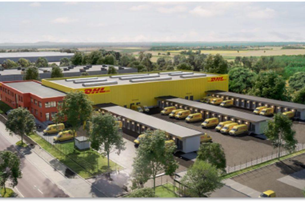 So wird der neue DHL-Express-Standort in Dortmund-Marten aussehen.