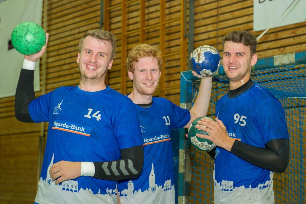 Mehrere Jahre spielten mit (v.l.) Philipp, Julian und Henning drei Schriefs in der ersten Mannschaft des HSC Haltern-Sythen.
