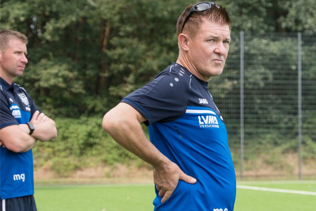 Flaesheims Trainer Michael Onnebrink freut sich auf seine jungen Sommer-Neuzugänge, zu denen auch Jacob Stockhofe zählt.