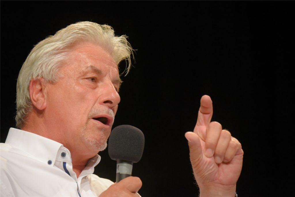Egon Schrezenmaier (CDU), hier bei einer Podiumsdiskussion  in der Rohrmeisterei