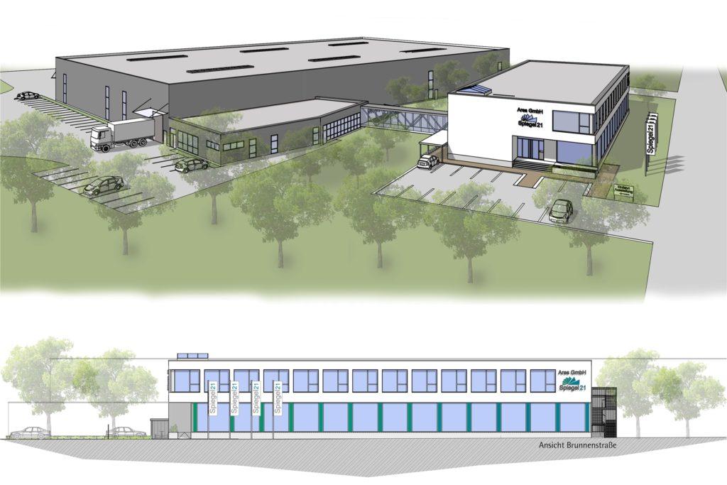 So sehen die Pläne der Firma Ares an der Brunnenstraße aus.