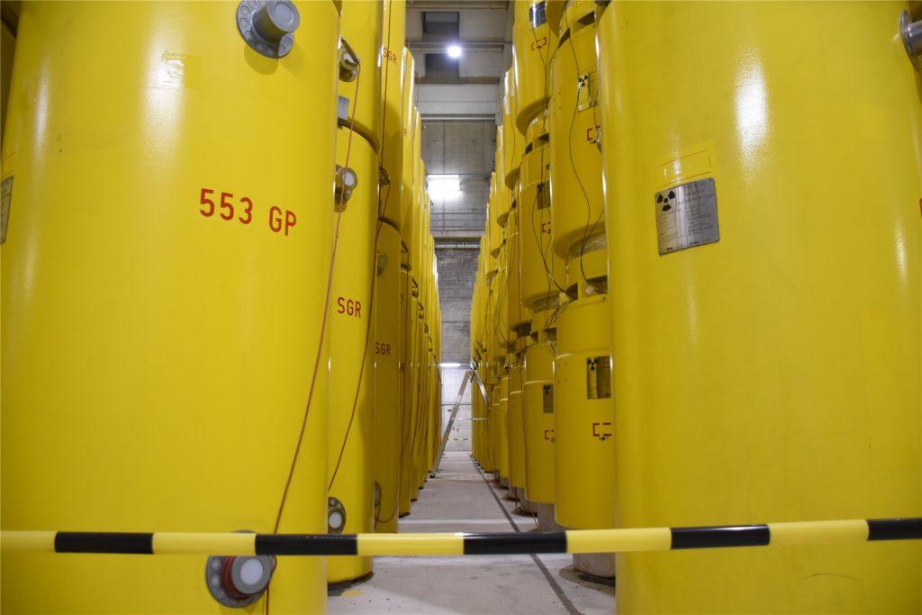 305 der 329 Castorbehälter kommen aus dem Kernkraftwerk THTR in Hamm-Uentrop.