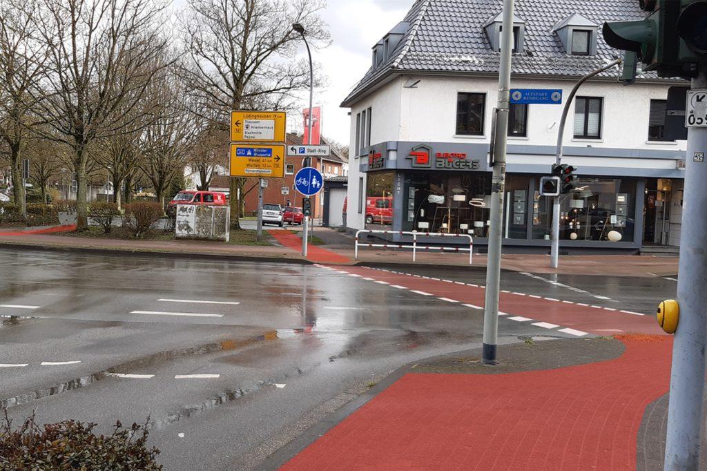 Ein Radweg vom Weseler Tor zur Dr. Conrads Straße wäre vor allem für Schüler sinnvoll, findet die Initiative.