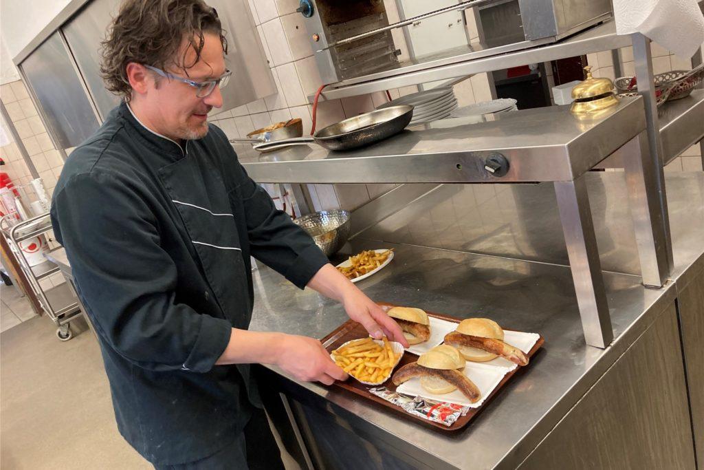 20 Tische im Außenbereich wird das Schlossrestaurant zunächst bewirten.