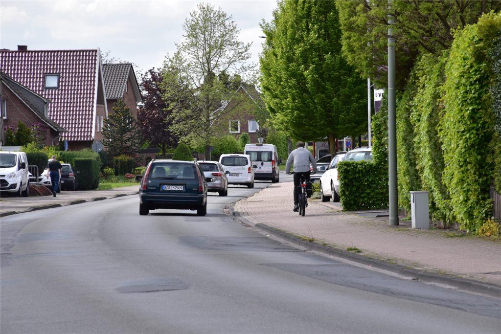 An der Breslauer Straße sind die Radwege zu schmal.