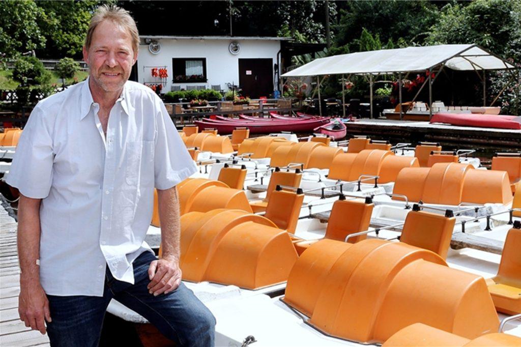 Ralf Meilenbrock führte bis vor drei Jahren den Bootsverleih. Unberechenbar war für ihn bis dahin nur das Wetter. Jetzt kämpfen die neuen Pächter Wigbert und Margret Meilenbrock mit den Folgen der Pandemie.