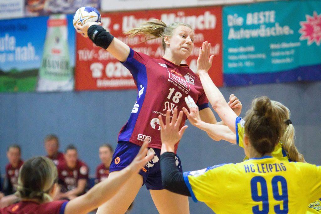Lina Hovenjürgen konnte nach einer Siegesserie den Klassenerhalt mit dem TVB Wuppertal feiern.