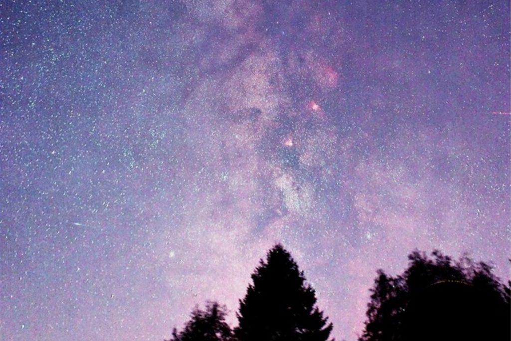 Ein seltener Anblick: Mit bloßem Auge lässt sich die Milchstraße beobachten.