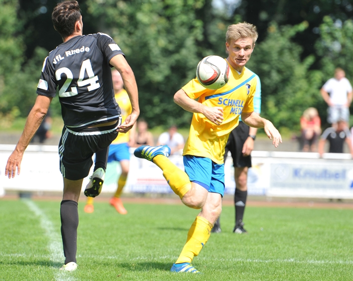 Romario Wiesweg, hier noch im Trikot der SpVgg Vreden, wechselte im vergangenen Sommer vom TuS Haltern am See zu RW Ahlen.