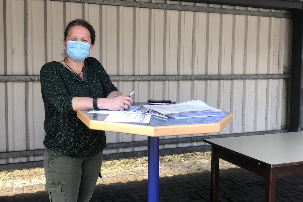 Helga Goldhausen hat die Impfaktion mit geplant.