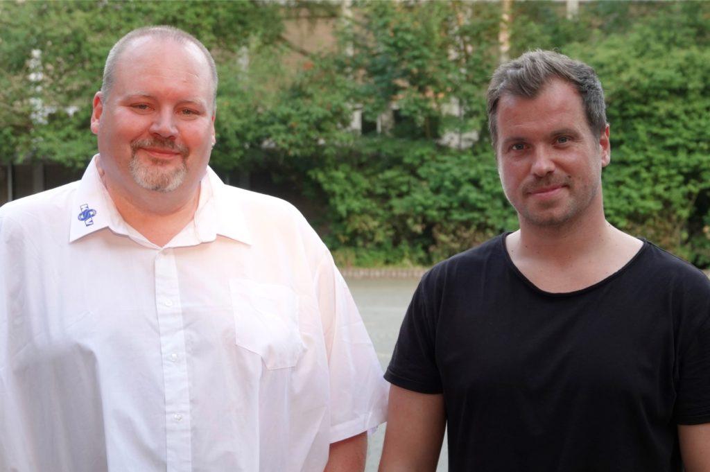 Der neue Vorsitzende Daniel Krahn (re.) und Geschäftsführer Marcus Schreier führen künftig die Geschicke des KSV-Gesamtvereins.