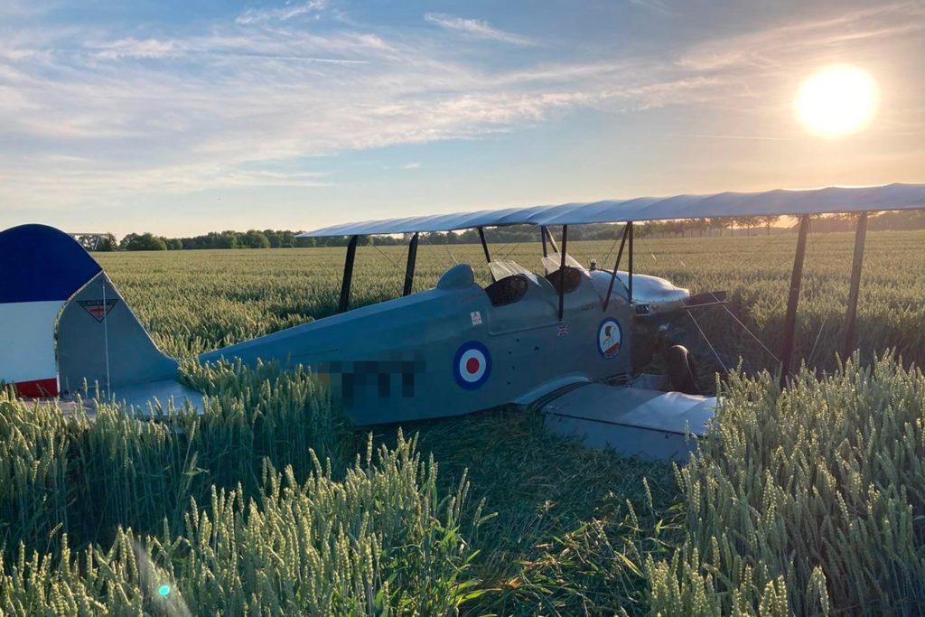 Der Pilot war allein in der zweisitzigen Maschine unterwegs, als ungefähr über dem Kamener Kreuz der Motor ausfiel.