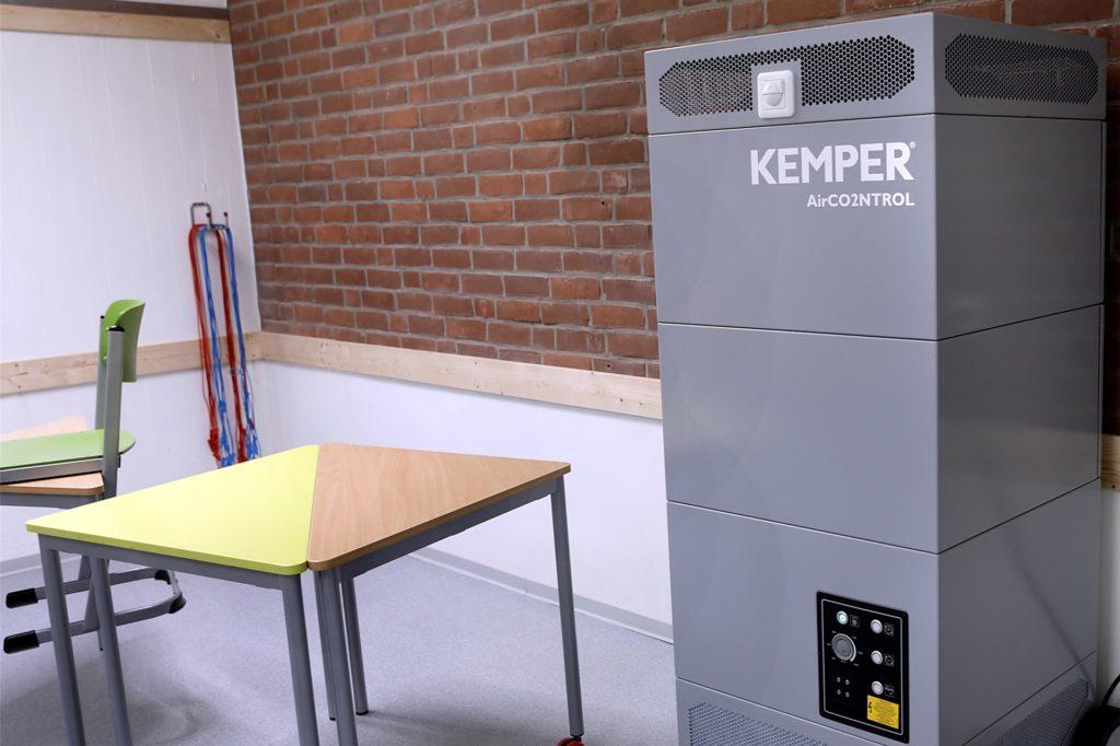 In diesem Raum im Joseph-König-Gymnasium gibt es keine Fenster. Deshalb hat die Stadt ein Belüftungssystem installiert.
