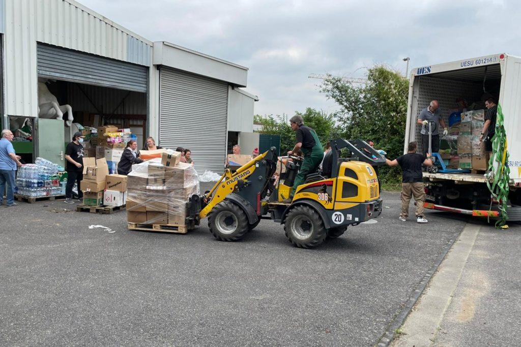Die ersten Hilfsgüter aus Haltern haben Erftstadt erreicht.