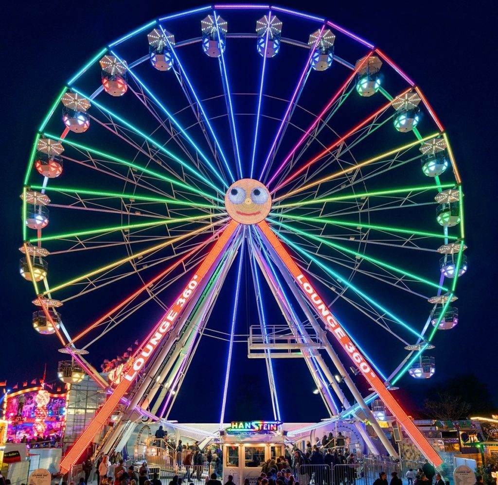 Ein 38 Meter hohes Riesenrad kommt zum Pop-Up-Freizeitpark in Vreden.