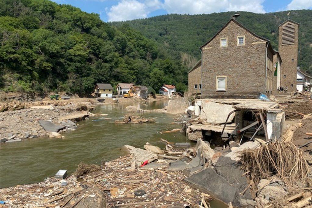 Die Zerstörung in Dernau ist erschütternd.