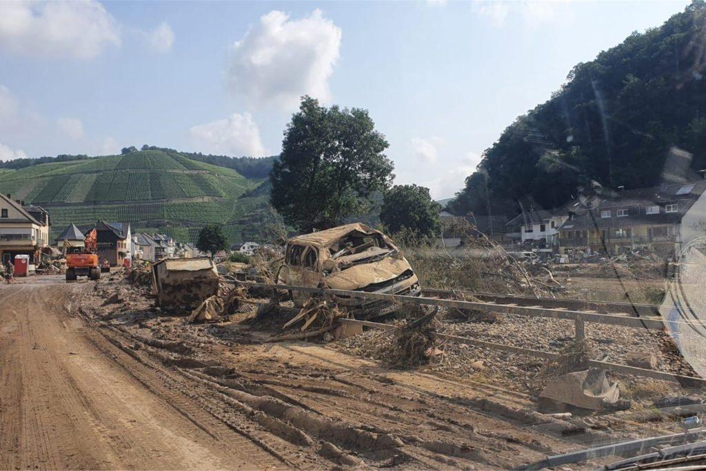 In Altenahr war Christian Marks nur auf der Durchreise, doch auch hier wird das Ausmaß der Katastrophe sichtbar.