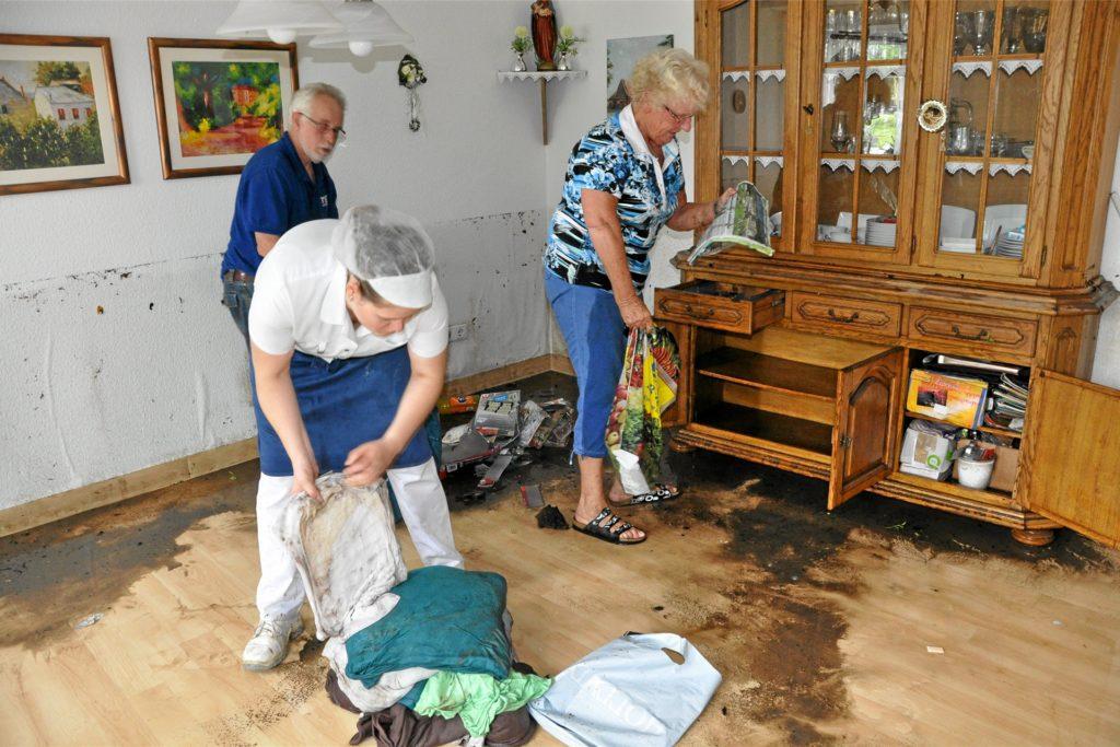 Vor allem das Altenwohnheim St. Josef hatte das Hochwasser schwer getroffen.
