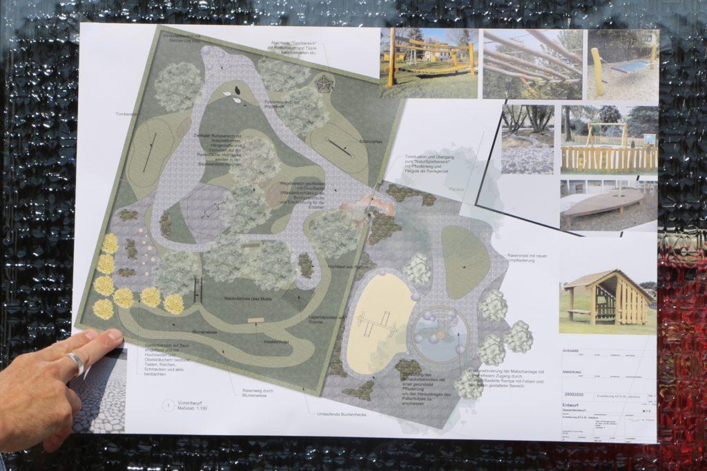 Auf dem Entwurf wird deutlich: Alles wird so grün und naturnah wie möglich gestaltet.