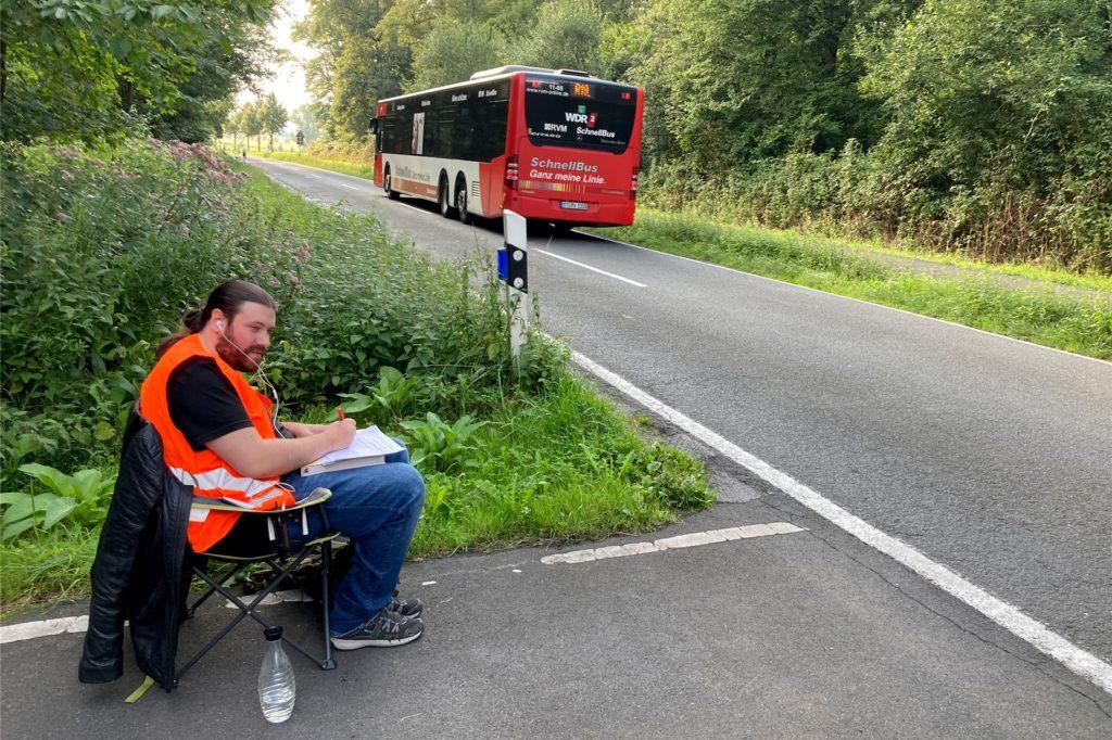 Ob Bus oder Pkw - alles wird gezählt.