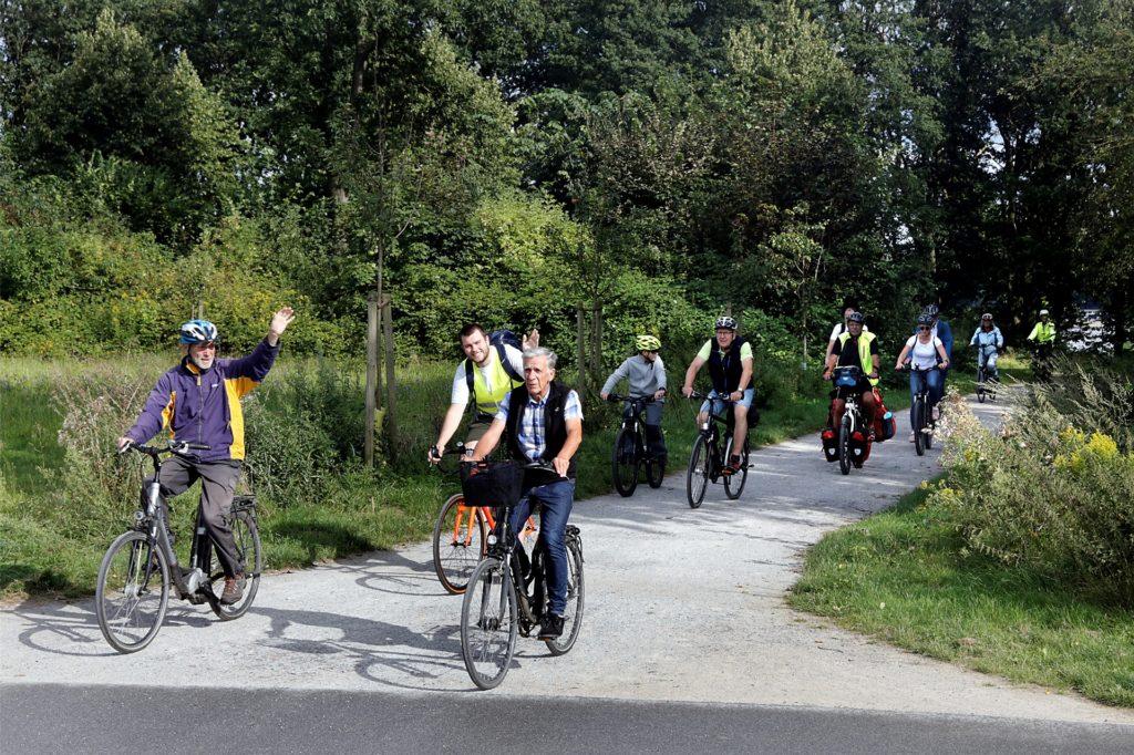 Die Verkehrswende Tour startete im Westuferpark.