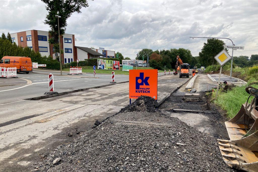 Noch bis Ende Oktober ist auf der Brambauer Straße eine Engstelle.
