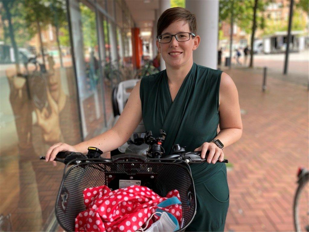Verkehrsplanerin Melanie Koischwitz radelt selbst immer von Waltrop nach Lünen zur Arbeit - ganz ohne Motor.