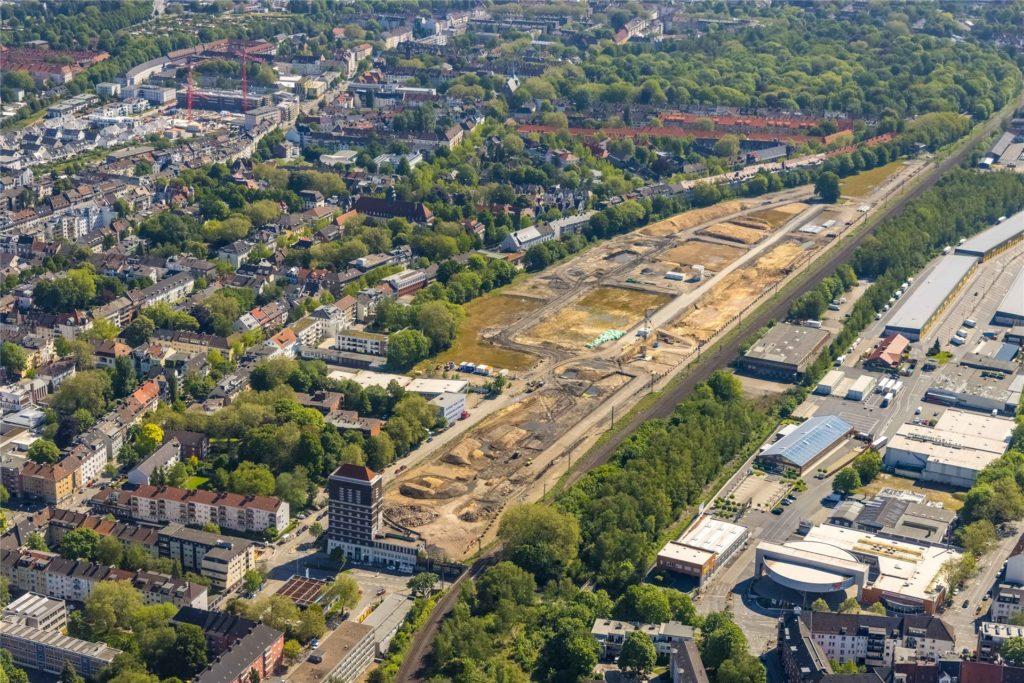 """Gut 630 neue Wohnungen sollen in den nächsten Jahren im """"Kronprinzen-Viertel"""" auf dem Gelände des früheren Südbahnhofs entstehen."""