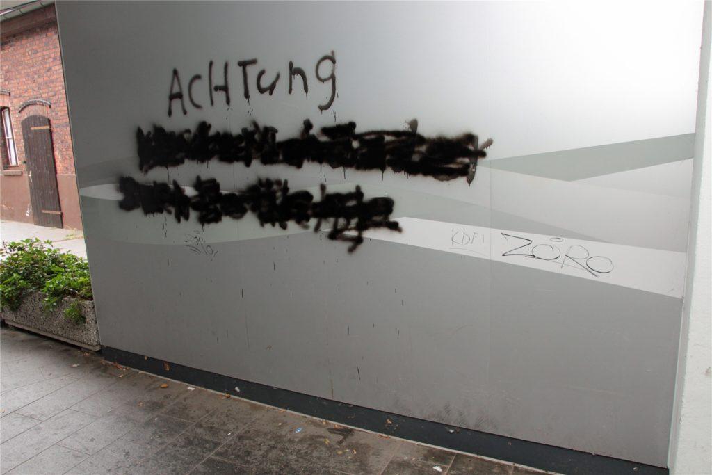 Grafitti sorgen ebenfalls für einen ungepflegten Eindruck.