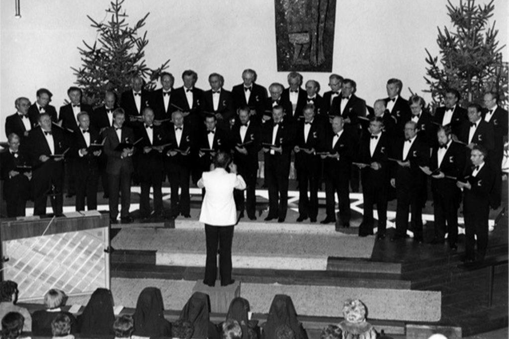 Ein Weihnachtskonzert in der Marienkirche 1986.