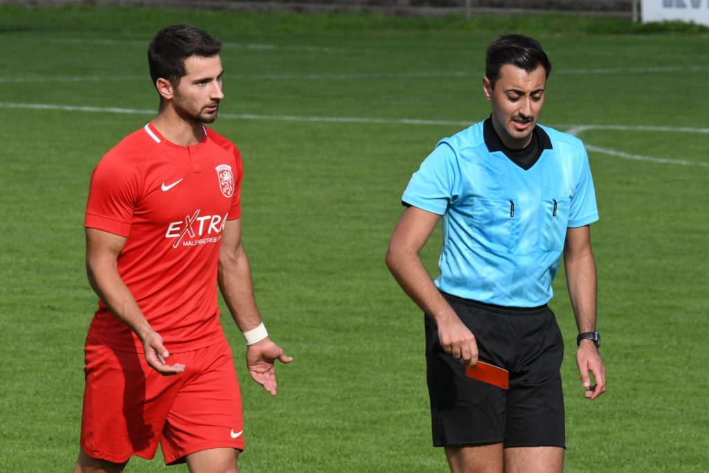 Milan Sekulic sah in der 68. Minute die Rote Karte.