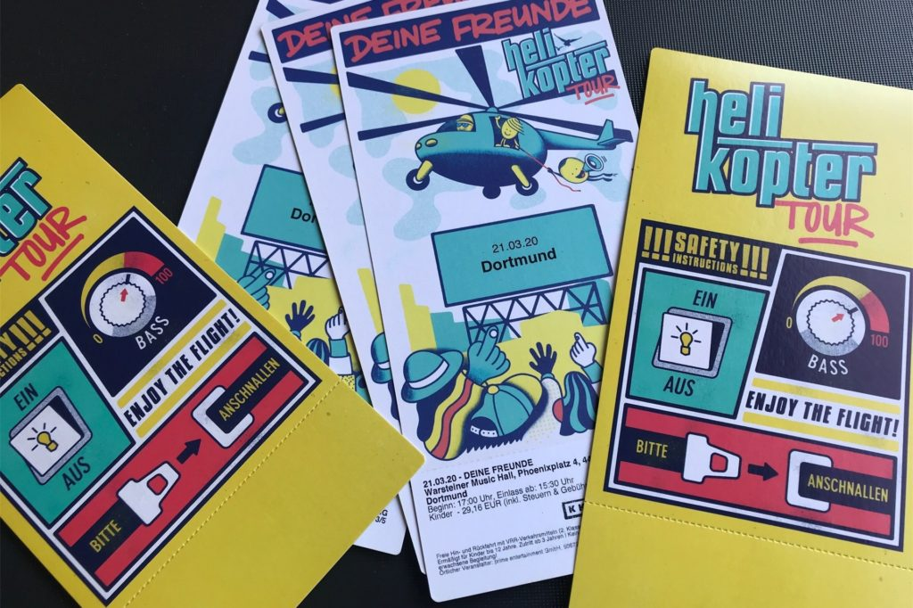 Auf den Konzertkarten, die nun ungültig sind, steht noch der 21. März 2020.