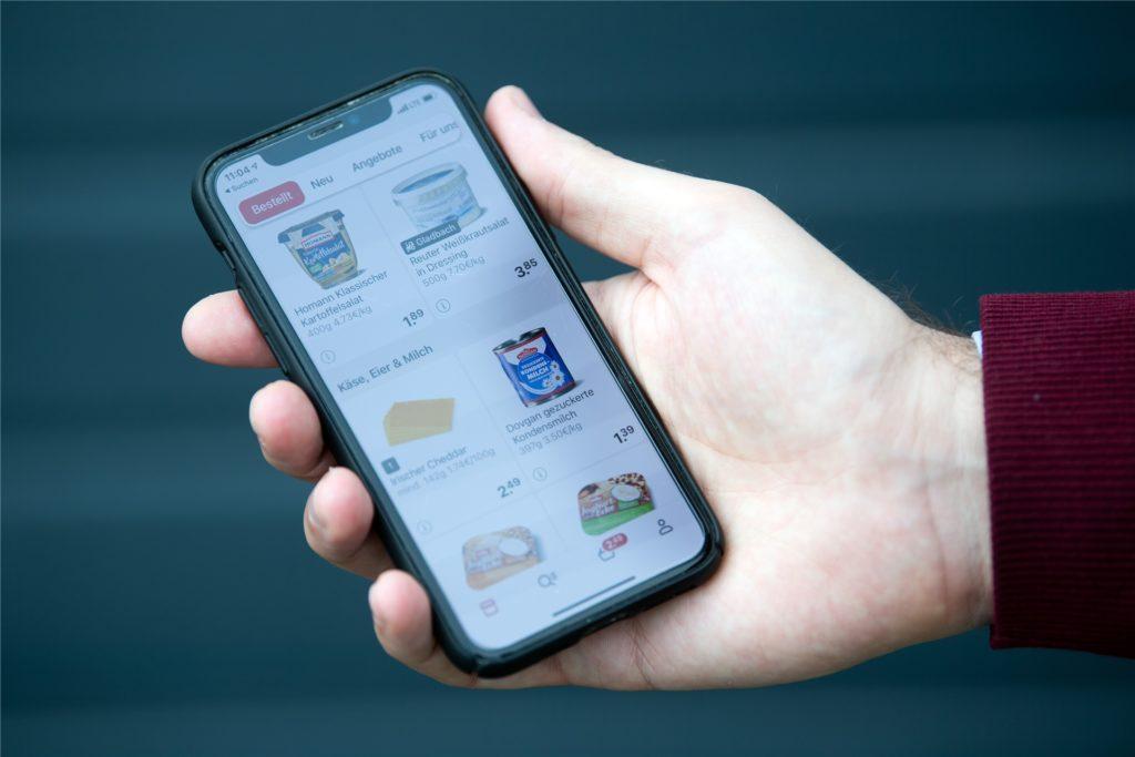 So sieht die App des Online-Lebensmittelhändlers Picnic aus.