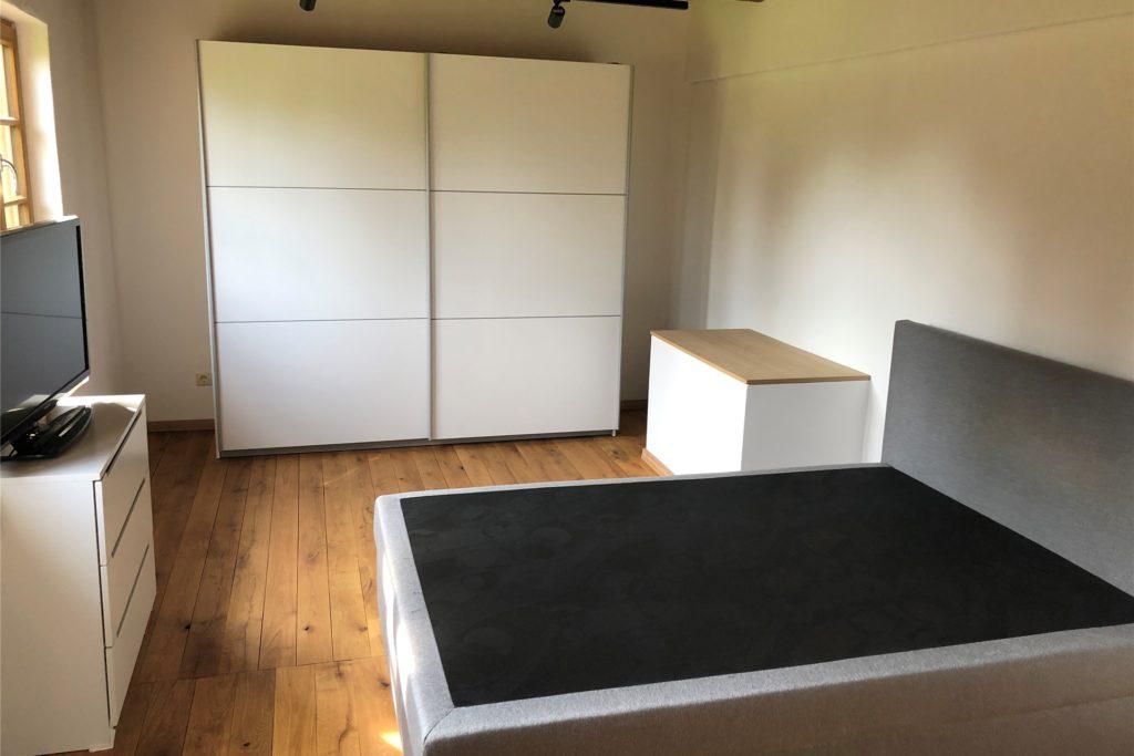 Das neue Schlafzimmer im Untergeschoss