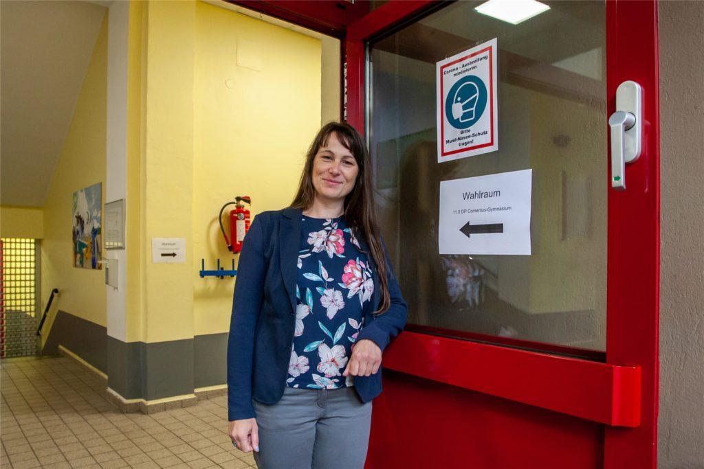 Yvonne Bruckmann ist bereits zum sechsten Mal bei einer Wahl im Einsatz.