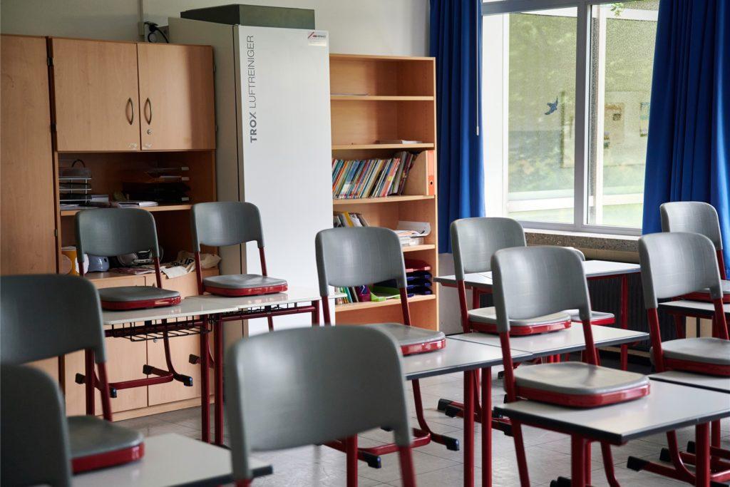 So sieht eines der Modelle zur Luftfilterung aus, das in einer Schule in Iserlohn installiert wurde.