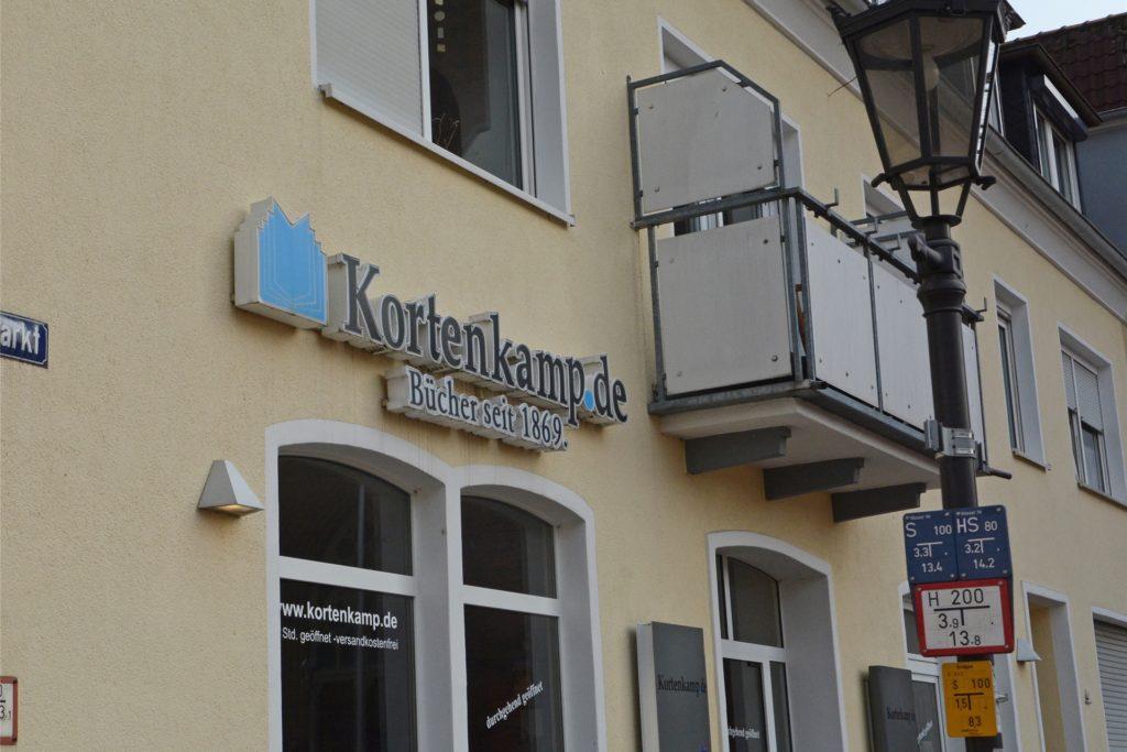 Die Buchhandlung Kortenkamp hingegen hat einen neuen Mitarbeiter gefunden.